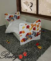 """Детская кровать Junior BABY BOO + матрас 140 х 70см """"Котёнок"""""""