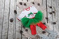 """Праздничный новогодний костюм """"Sweet Caramel"""" для девочки от 3 мес. до 1 года (размер 62-80) ТМ MagBaby Разноцветный"""