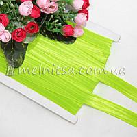 Резинка для повязок (эластичная бейка), 1,5 см, кислотно-салатовый