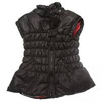 Утепленная демисезонная жилетка 16-06 для девочки 4 - 9 лет (р. 104-134) ТМ  Kids Couture Черный