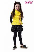 Утепленная демисезонная жилетка 16-06 для девочки 4 - 9 лет (р. 104-134) ТМ  Kids Couture Желтый