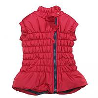 Утепленная демисезонная жилетка 16-06 для девочки 4 - 9 лет (р. 104-134) ТМ  Kids Couture Красный