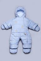 """Утепленный зимний комбинезон """"Мишки-Топтыжки"""" для новорожденного с хлопковой подкладкой Модный карапуз"""