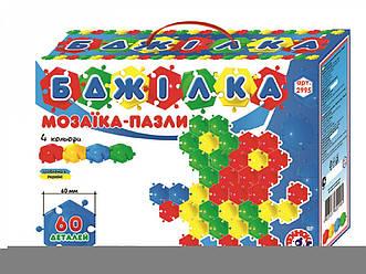"""Іграшка мозаїка-пазли """"Бджілка Технок"""" (60 деталей)"""
