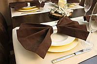 Салфетка для стола Канзас коричневый 40*40 см