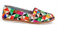 Эспадрильи женские Toms textile (cubic) - 03z