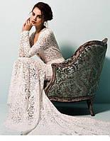 Платье в пол вечернее из гипюра со шлейфом
