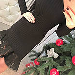 Женское нарядное платье с кружевом (4 цвета), фото 2