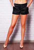 Короткие женские классические шорты цвет черный Хилтон2 (короткие)