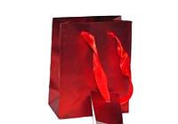 Подарочные пакеты Красные упаковка 12шт 23х18х10 см
