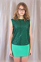 Блестящее изумрудное молодежное женское клубное платье