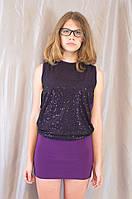 Блестящее молодежное женское мини платье