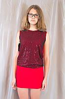 Блестящее красное молодежное женское клубное платье
