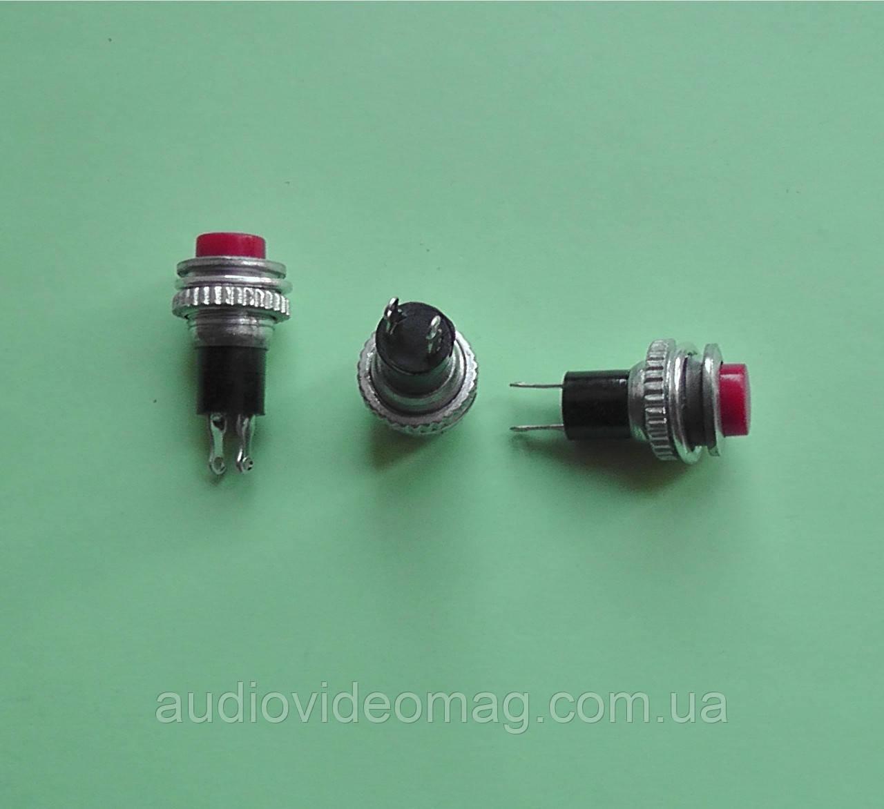 Кнопка пусковая без фиксации, малая, диаметр 9,6 мм, цвет - красный