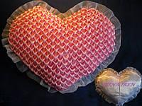 Подушка сердце с буфами.