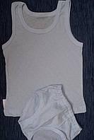 Детский комплект белья для мальчика голубой мультирип