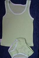 Детский комплект белья для мальчика оливковый мультирип