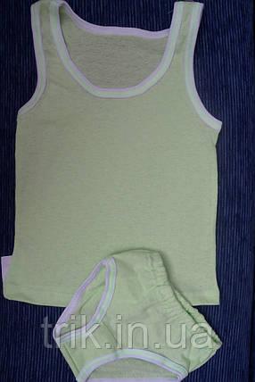 Комплект нижнего белья для мальчика оливковый мультирип, фото 2
