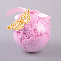 Салфетка-полотенце розовая 40Х60 см в подарочной упаковке 813-034