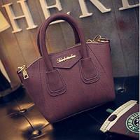 Маленькая женская сумка Le bailu бордовая, фото 1