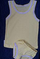 Детский комплект нижнего белья для девочки желтый мультирип