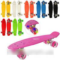 Скейт MS 0848-2 Пенни борд (Penny Board) колеса светятся КК, HN