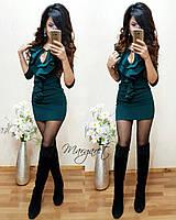 Женское красивое платье мини с рюшами (2 цвета)