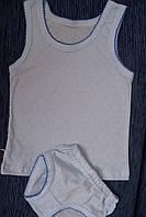 Детский комплект нижнего белья для девочки голубой мультирип
