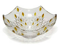 320 Amber Ваза стекло для фруктов 105*251 янтарная
