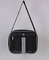 Сумка спортивная Adidas цвет черный 8х27х33  SOR /09-5