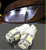 Светодиодные лампы габариты, повороты, подсветка Т10 5 LED