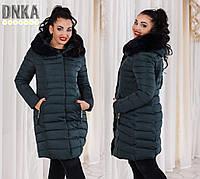 Пальто большого размера зимнее №р858