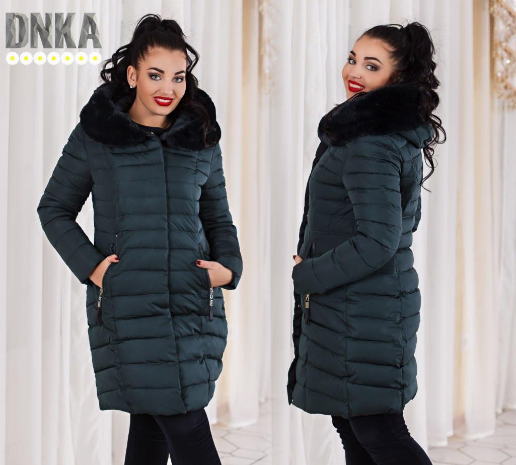 """Пальто большого размера зимнее №р858 - магазин одежды  """" Alta Moda """" в Одессе"""