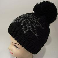 Черная зимняя шапка женская