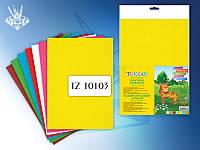 Набор бархатной бумаги 7 листов, 7 цветов, А4