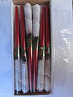 Свечи декоративные новогодние 30 см со снежком