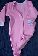 Человечек хлопковый плотный розовый полотно селяник