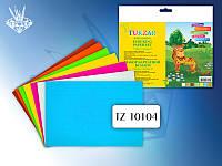 Набор бархатной бумаги А5, 7 листов, 7 цветов