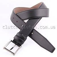 Ремень для брюк LMi 35 мм эко кожа черный со строчкой