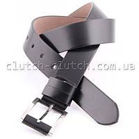Ремень для брюк LMi 40 мм эко кожа черный матовый
