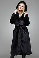 Шуба женская с капюшоном.