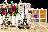 Силиконовый чехол бампер для Meizu U20 с картинкой Париж открытка