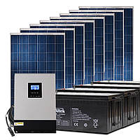 Автономная солнечная станция 0,5 кВт с инвертором 1 кВт