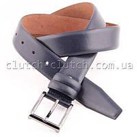 Ремень для брюк LMi 35 мм темно-синий гладкий