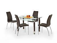 Стеклянный стол Gotard коричневый