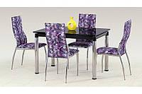 Стеклянный стол L31 чёрный