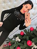 Женский стильный свитер с украшением (3 цвета), фото 1