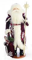 Дед Мороз 50 см с белым посохом 0450