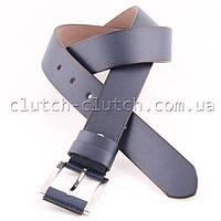 Ремень для брюк LMi 40 мм эко кожа синий с темными краями