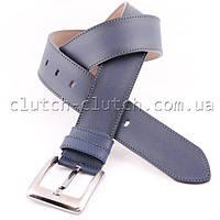 Ремень для брюк LMi 45 мм эко кожа синий